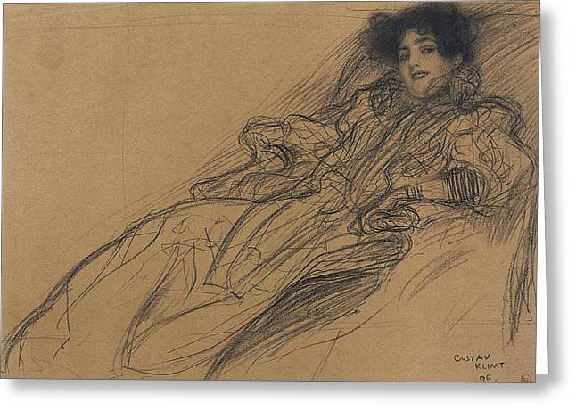 Klimt Young Woman, 1896 Greeting Card