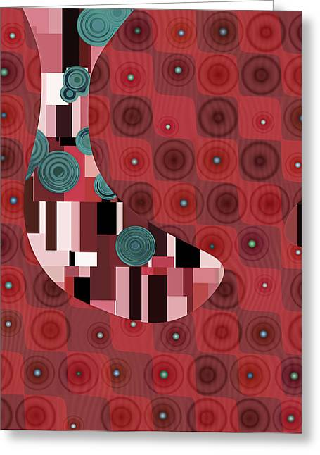 Klimtolli - 01rdbl01 Greeting Card by Variance Collections