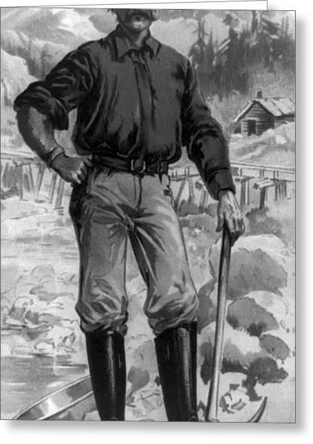 Klondike Gold Rush, 1899 Greeting Card