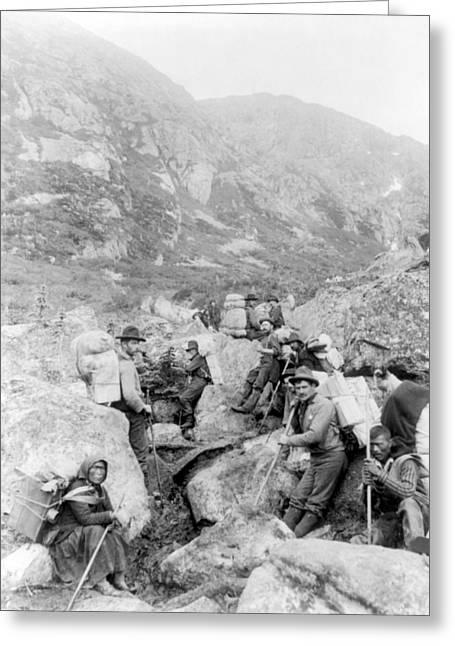 Klondike Gold Rush, Dyea Trail, 1897 Greeting Card