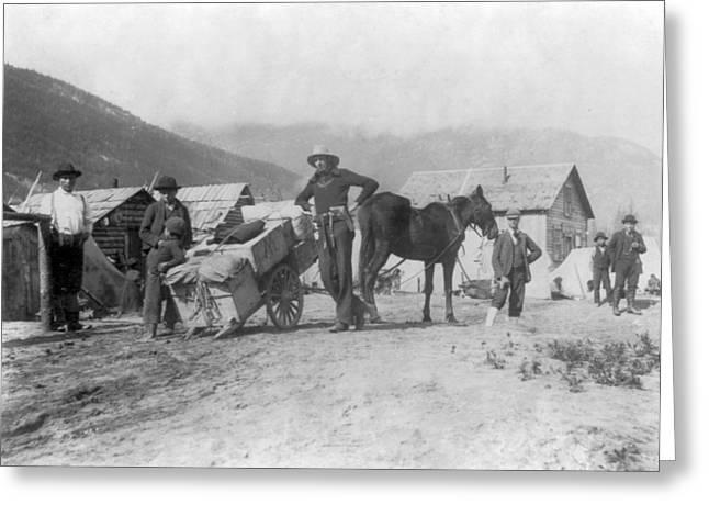 Klondike Gold Rush, Provisions Wagon Greeting Card
