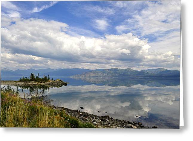 Greeting Card featuring the photograph Kluane Reflections by Cathy Mahnke