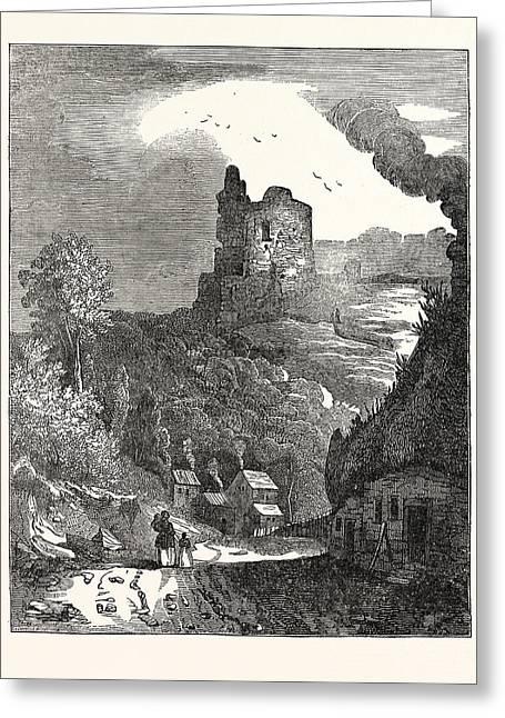 Knaresborough Castle, Yorkshire, Uk, Britain Greeting Card by English School