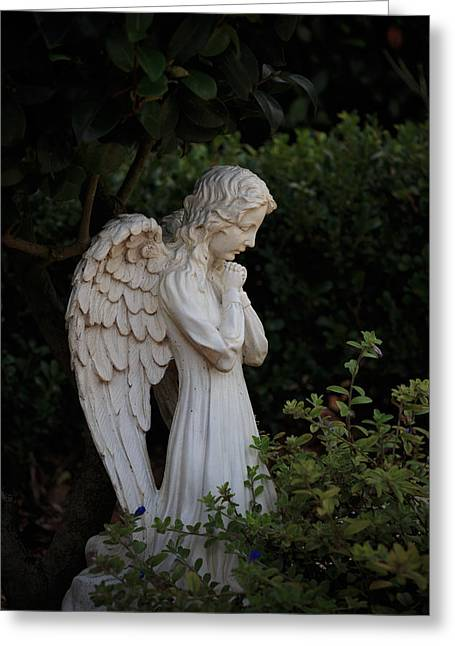 Kneeling Angel Greeting Card