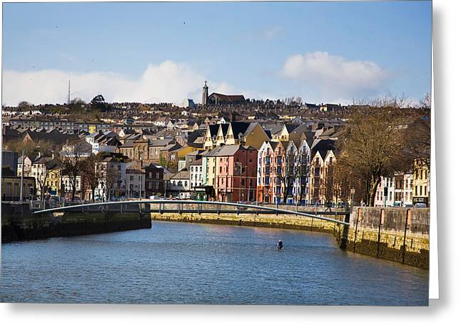 Kneeling Canoe, River Lee, Cork City Greeting Card