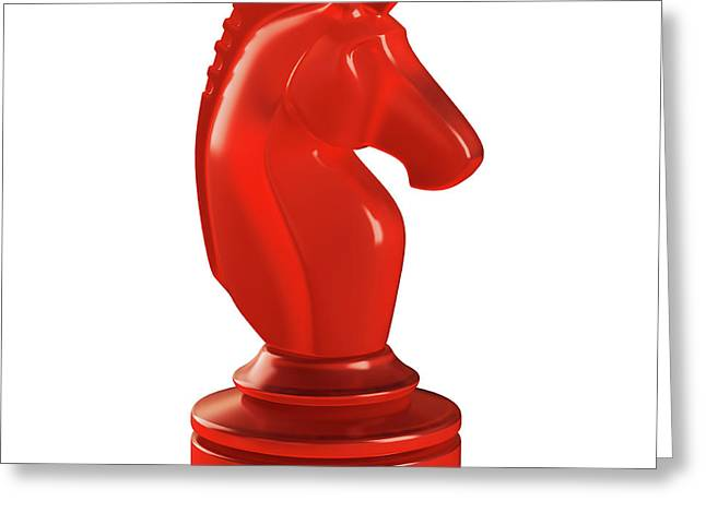Knight Chess Piece Greeting Card by Ktsdesign
