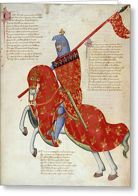 Knight Of Prato Greeting Card by British Library