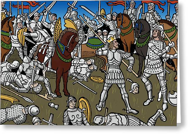 Knights, 1489 Greeting Card by Science Source