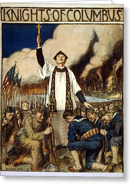Knights Of Columbus, 1917 Greeting Card by William Balfour Kerr