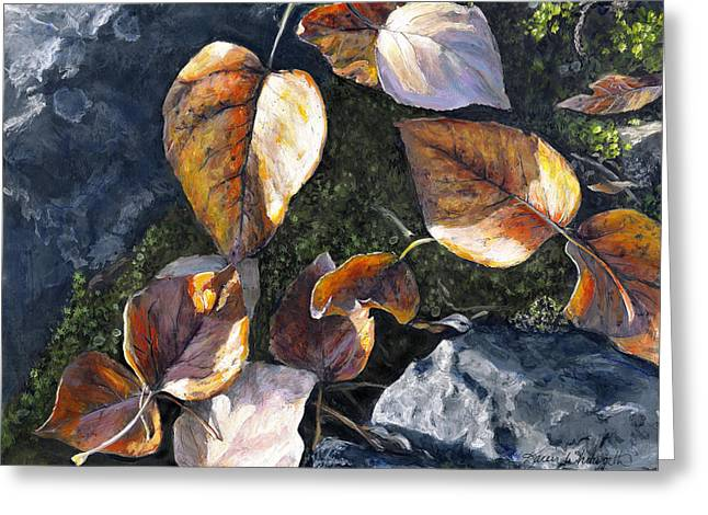 Knik River Autumn Leaves Greeting Card
