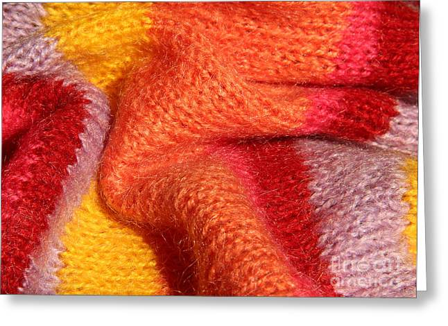 Knitted Textile Greeting Card by Kerstin Ivarsson