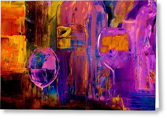 Wine Glass Ice Sculpture Greeting Card by Lisa Kaiser