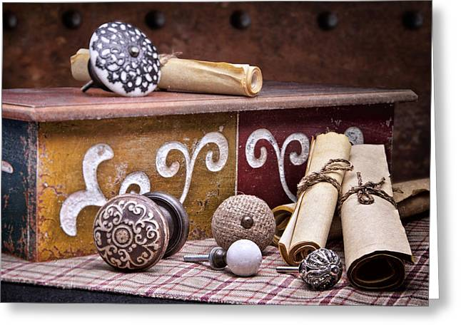 Knobs And Such Still Life Greeting Card by Tom Mc Nemar