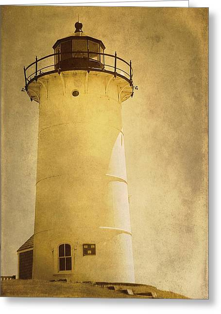 Knobska Point Light Lighthouse Woods Hole Ma Greeting Card by Suzanne Powers