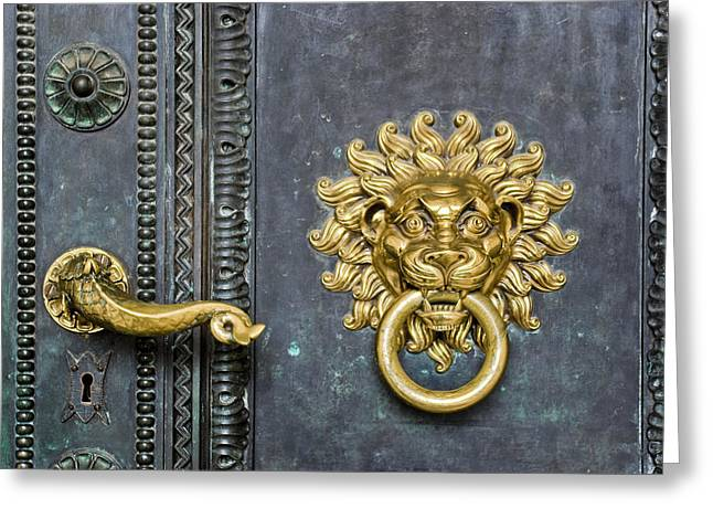 Knock Greeting Card by Gabor Fichtacher