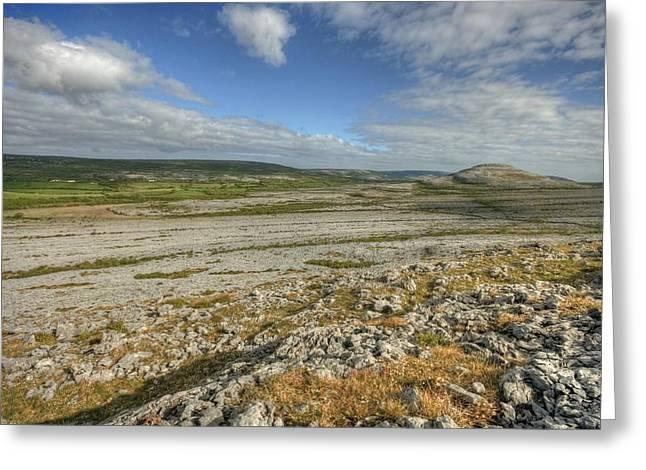 Knockanes Mountain Greeting Card by John Quinn