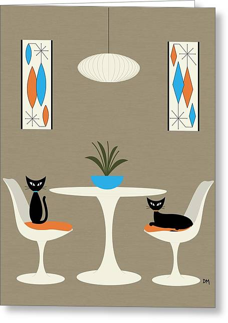 Greeting Card featuring the digital art Knoll Table by Donna Mibus