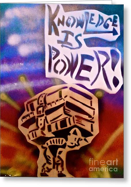 Knowledge Is Power 1 Greeting Card by Tony B Conscious