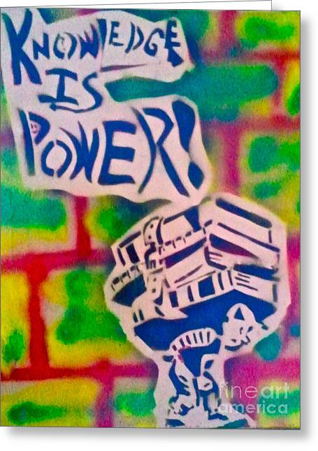 Knowledge Is Power 2 Greeting Card by Tony B Conscious