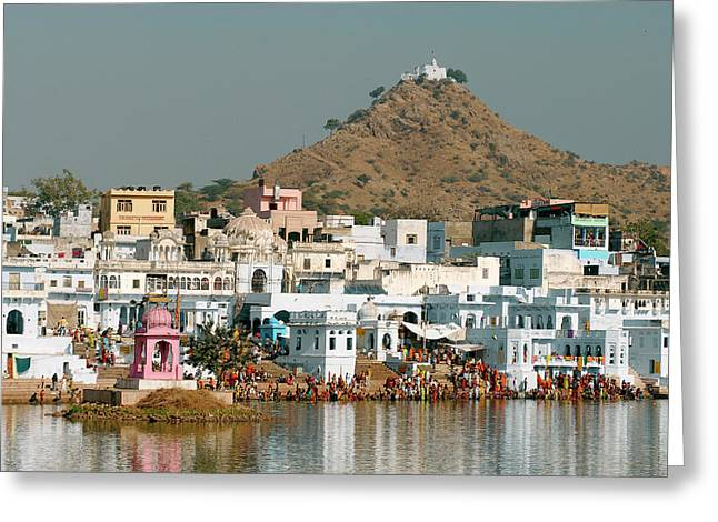 Known As The 'city Of Temples', Pushkar Greeting Card by David Noyes