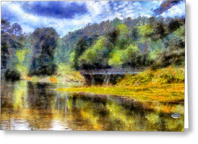 Knox Bridge On Allatoona Greeting Card by Daniel Eskridge