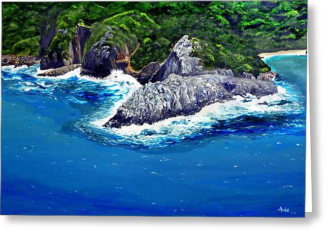 Knysna Heads Greeting Card by Andre Pillay