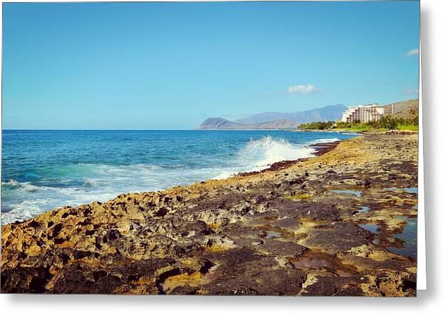 Ko Olina Shoreline 1 Greeting Card by Brandy Muses