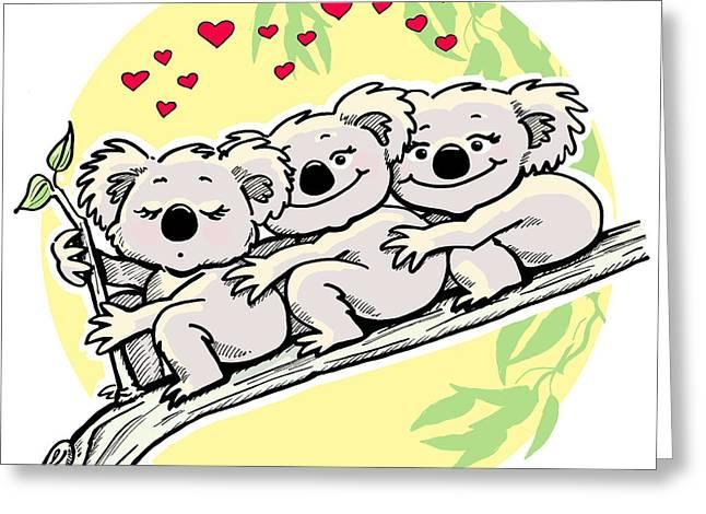 Koala Love Greeting Card by Ghita Andersen