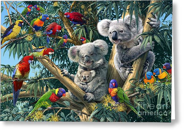 Koala Outback Greeting Card