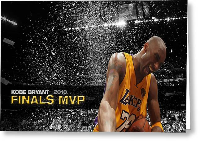 Kobe Bryant Greeting Card by Brian Reaves