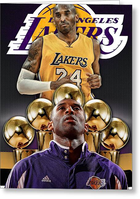 Kobe Bryant Poster Phone Cover Greeting Card by Nicholas Legault