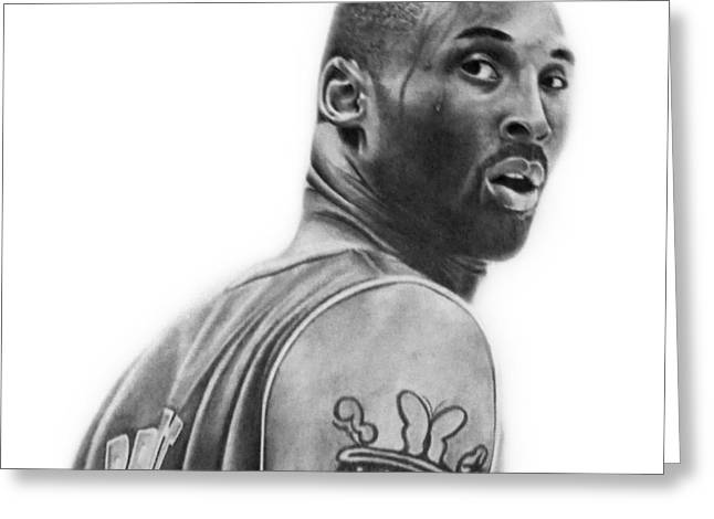 Kobe Bryant Greeting Card by Don Medina