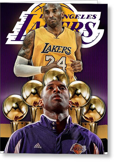 Kobe Bryant Poster Phone Cover 2 Greeting Card by Nicholas Legault