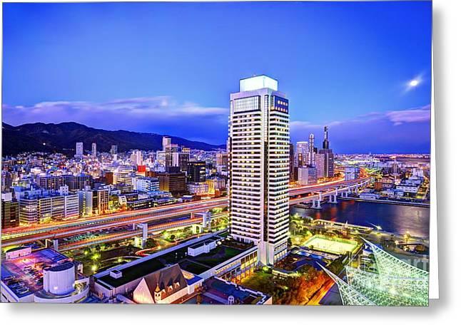 Kobe Japan Greeting Card by Sean Pavone