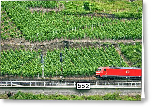 Koblenz, Germany, A High Speed Train Greeting Card by Miva Stock
