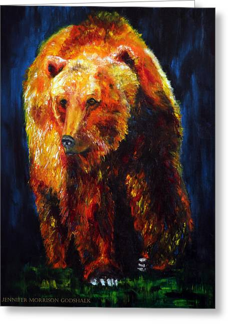 Kobuk's Domain Contemporary Bear Painting Greeting Card