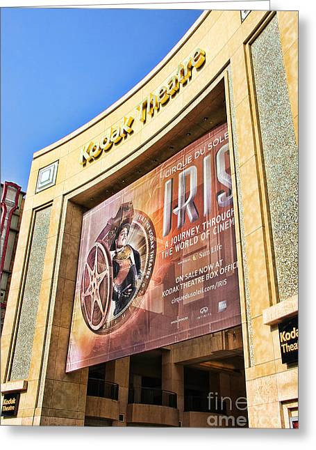 Kodak Theatre Greeting Card by Mariola Bitner