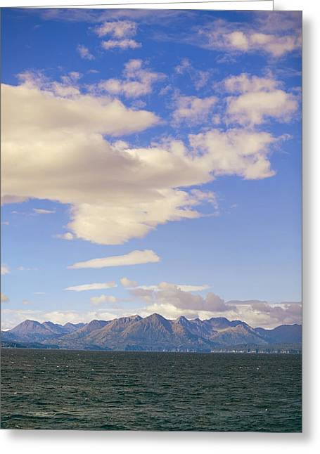 Kodiak Island As Seen From Alaska Greeting Card by Kevin Smith