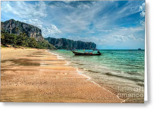 Koh Lanta Beach Greeting Card by Adrian Evans