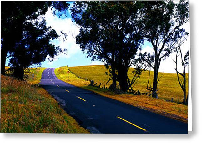 Kohala Mountain Road  Big Island Hawaii  Greeting Card
