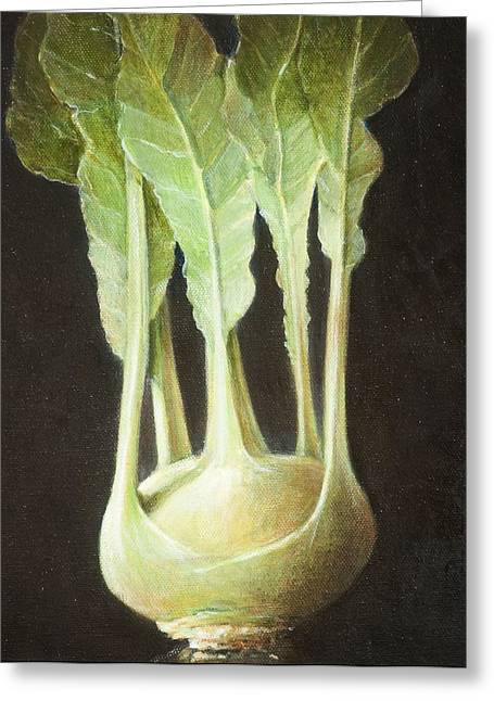 Kohl Rabi, 2012 Acrylic On Canvas Greeting Card by Lincoln Seligman