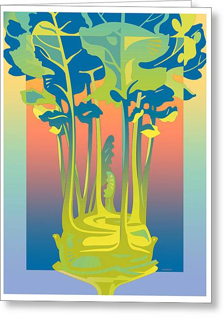 Kohlrabi Gradient Greeting Card