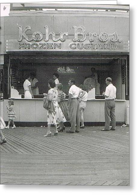 Kohr Bros Frozen Custard Atlantic City Nj Greeting Card by Joann Renner