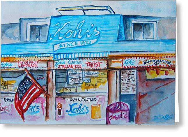 Kohrs Frozen Custard Greeting Card