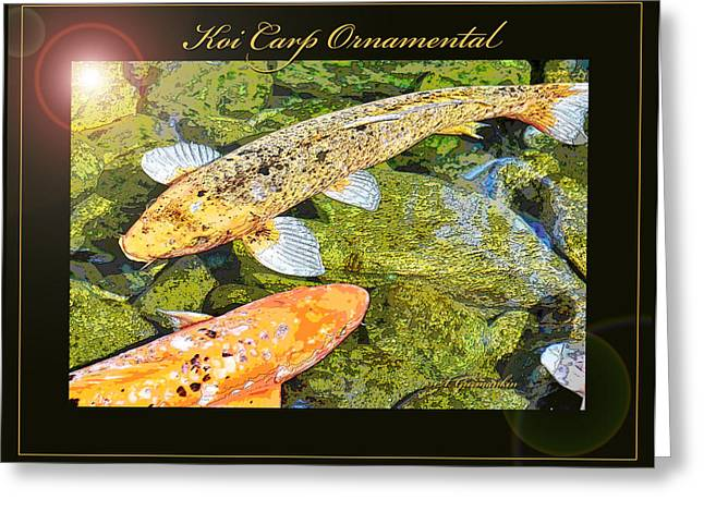 Koi Carp Goldfish Ornamental Framing Print Greeting Card