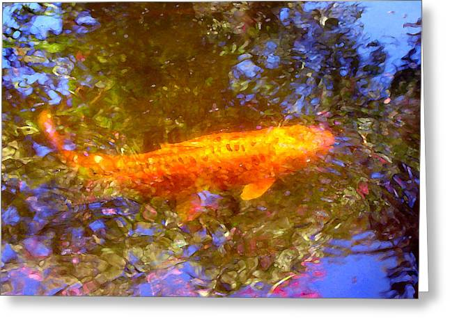 Koi Fish 2 Greeting Card