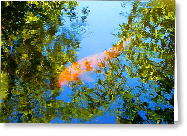 Koi Fish 3 Greeting Card