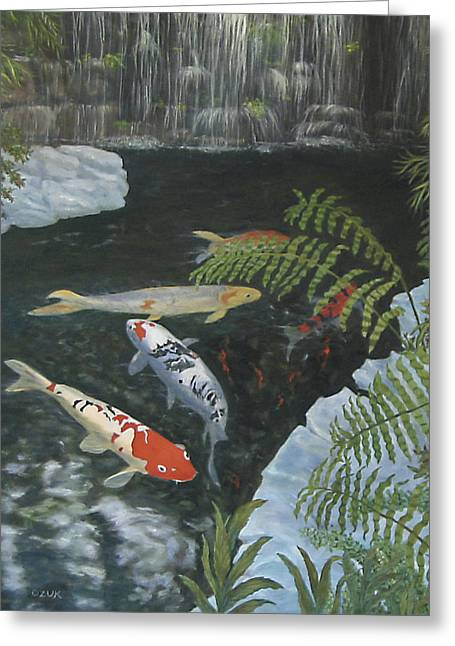 Koi Fish Greeting Card