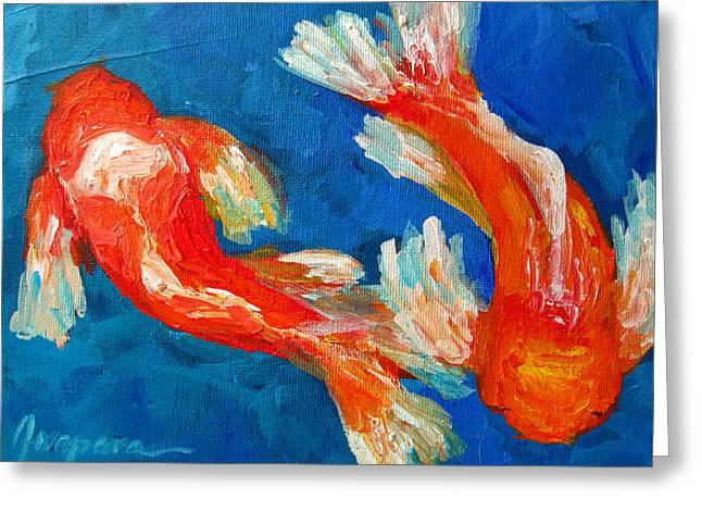 Koi Fish Greeting Card by Patricia Awapara