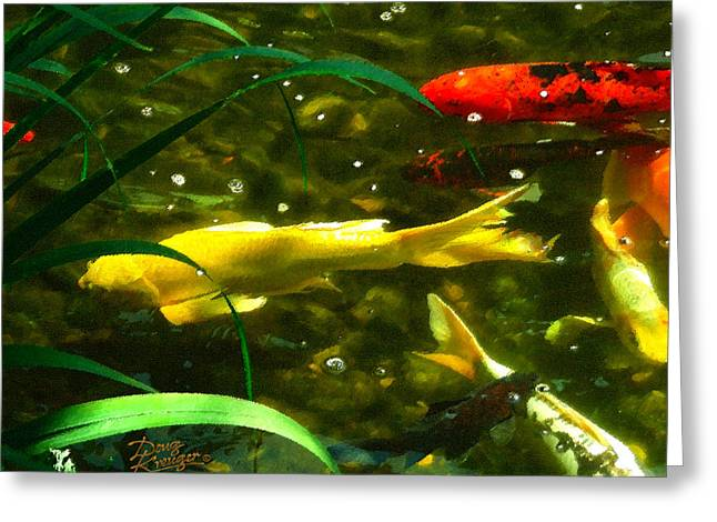 Koi Pond II Greeting Card by Doug Kreuger